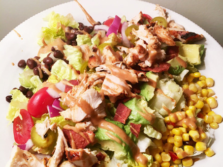 Southwest BBQ Salad with BBQ Ranch Dressing