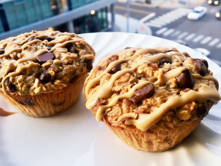 Chocolate Chip Oatmeal Protein Muffins
