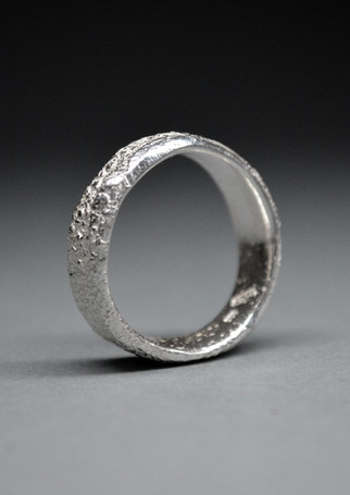 Ring Silber Sand