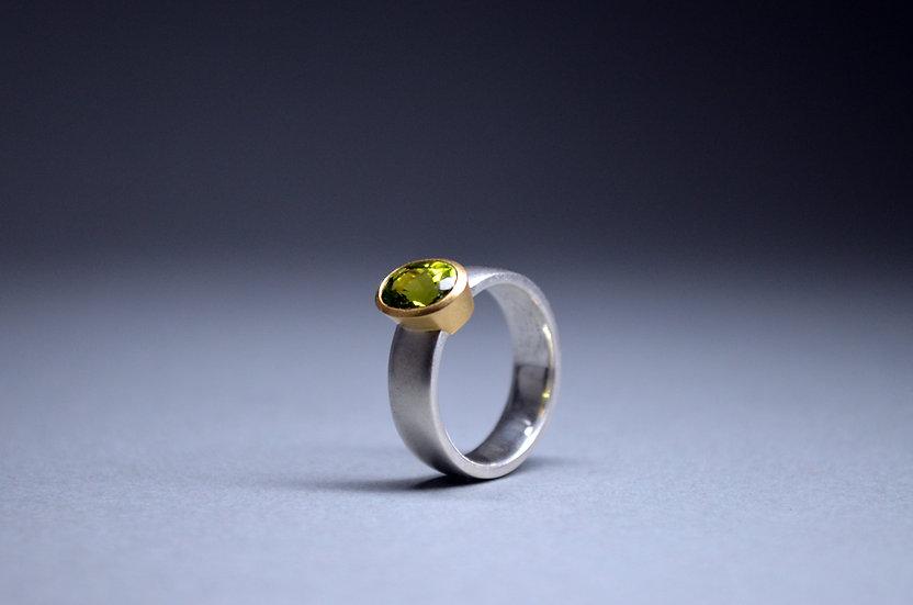 Ring grüner Turmalin