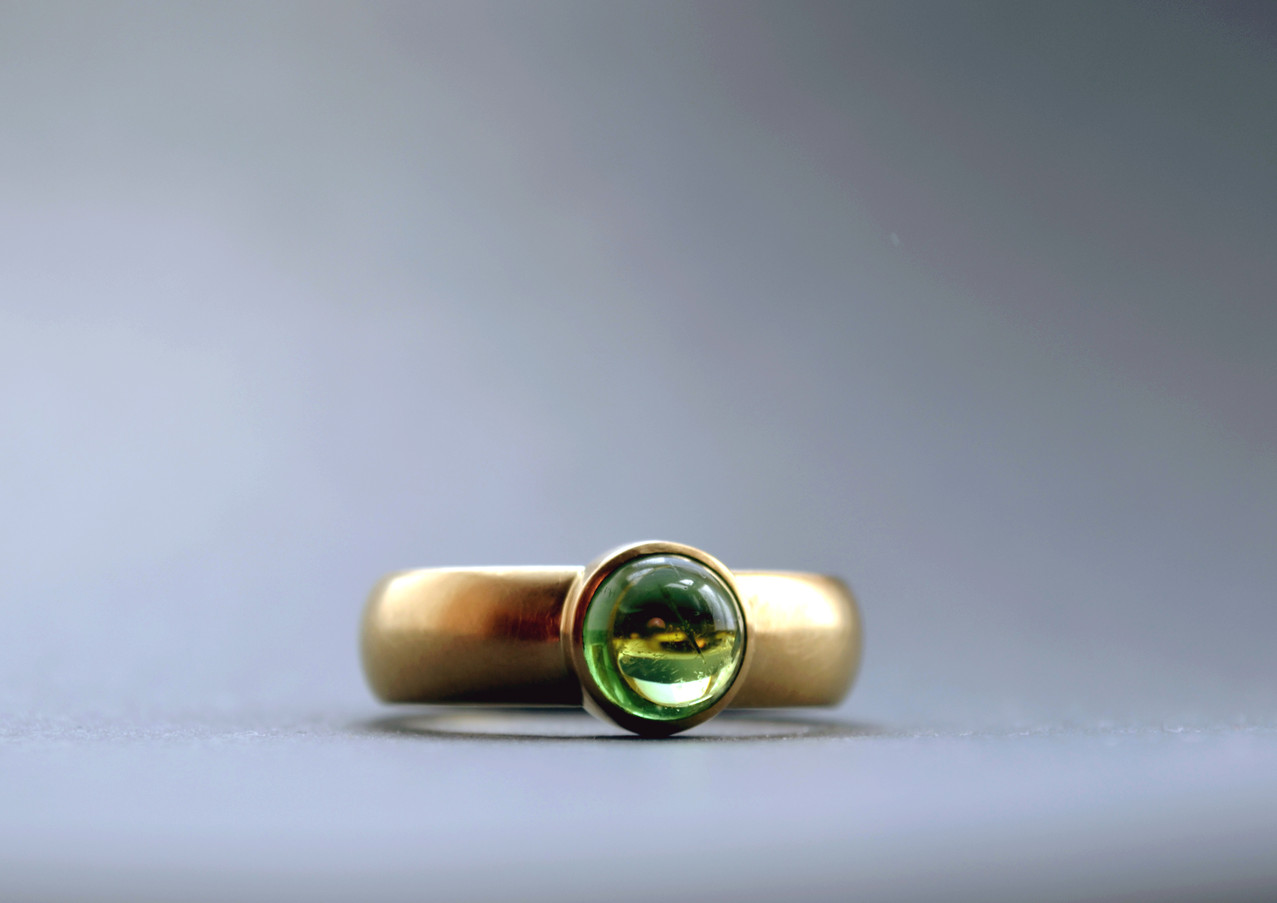 Ring Turmalin Cabochon