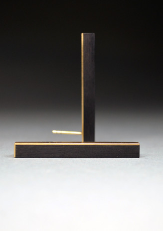 Ohrstecker Gold Ebenholz