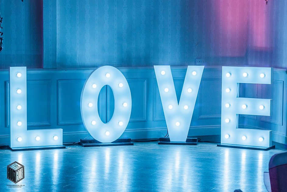 Light up Love Letters Wedding & Party