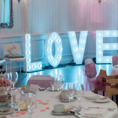 Wedding and Party Light up Love letters