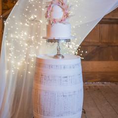 Rustic Barrel Wedding Cake-Stand