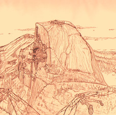 City Inside Mountain