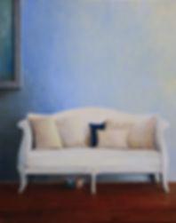 White Sofa, Red Shoe Hiding
