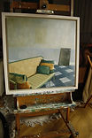 On Easel_ Antique Sofa