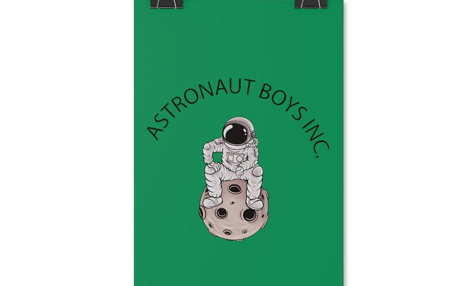 ABI MAN ON MOON Posters (green)