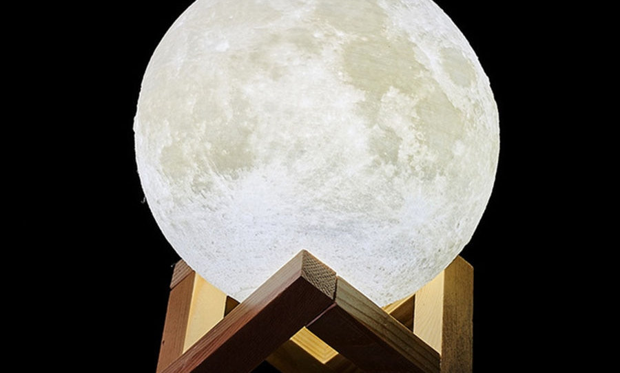Rechargeable Moon Lamp LED Creative Touch Switch Moon Bedroom Decoration