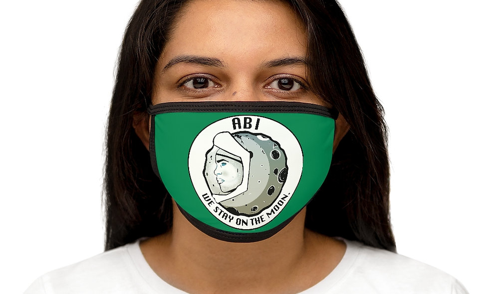 Mixed-Fabric ABI Face Mask(green)