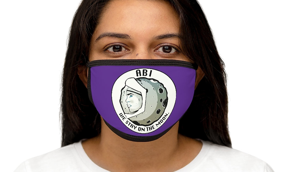Mixed-Fabric ABI Face Mask purple
