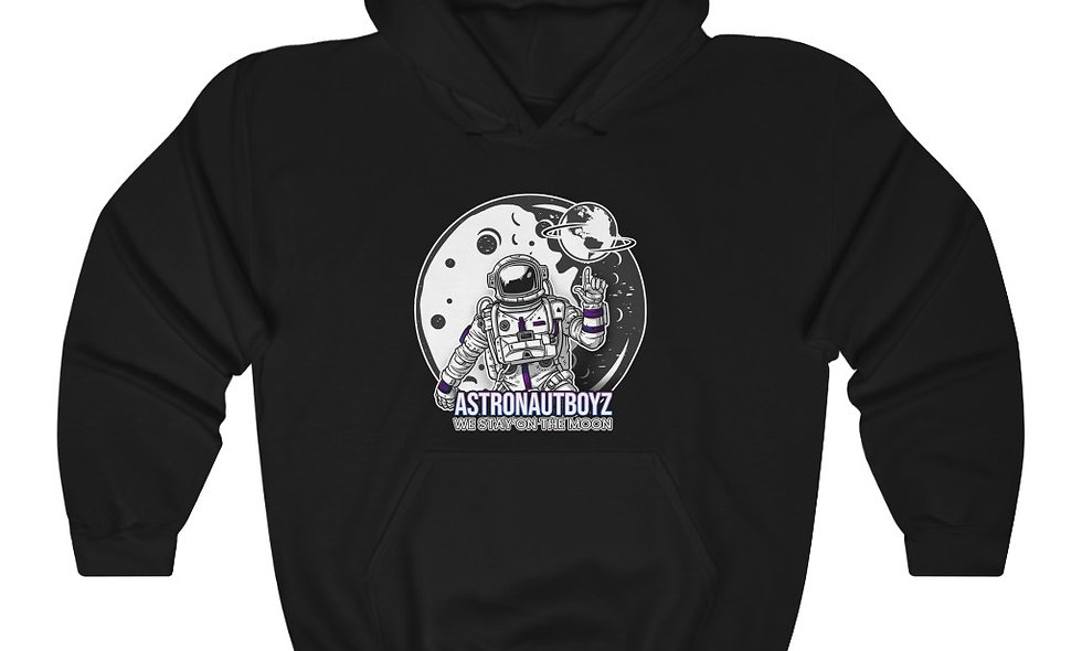 Unisex Heavy Blend™ ABI LETTER&LOGO 2 Hooded Sweatshirt
