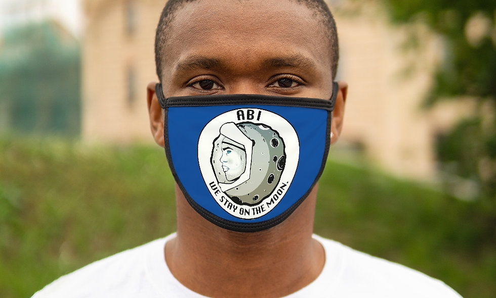 Mixed-Fabric ABI Face Mask(blue)