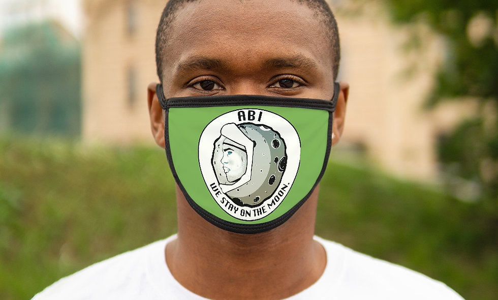 Mixed-Fabric ABI Face Mask GREEN