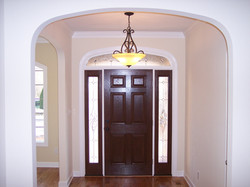 Foyer with arched openings