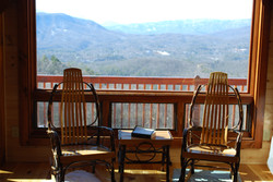 Living room with Blue Ridge veiw