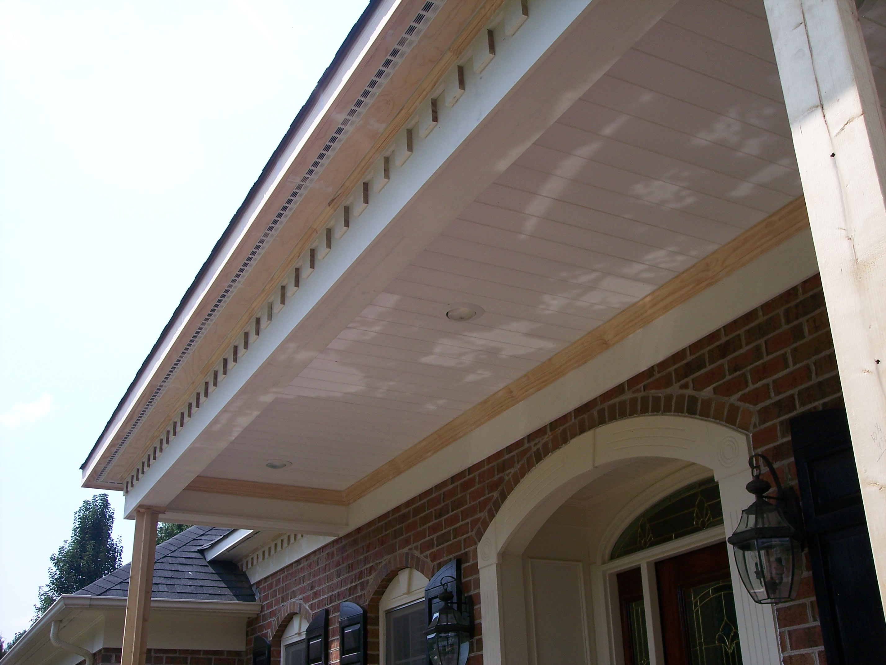 Dental Molding along front porch