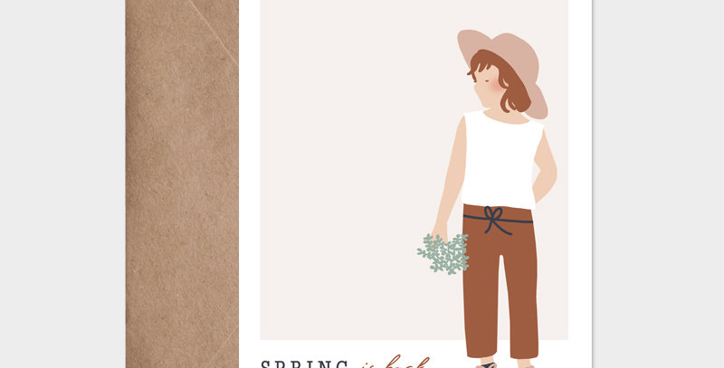 Carte postale - Post card - Spring is back