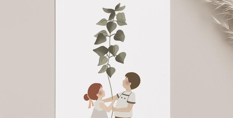 Carte postale - Post card - La plante géante