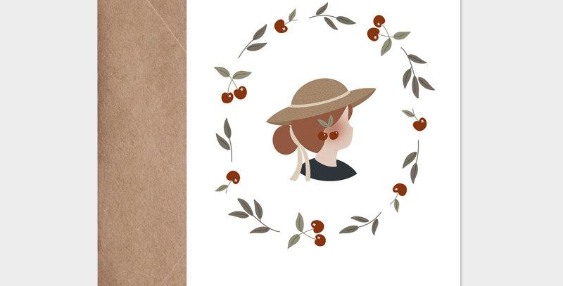 Carte postale - Postcard - Madame Cerises / R