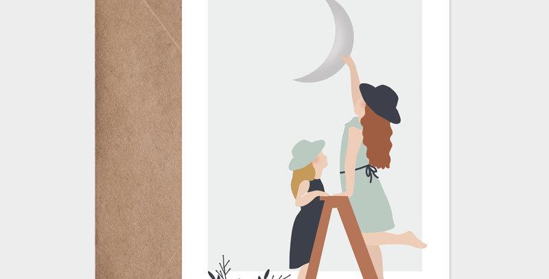 Carte postale - Postcard - L'échelle de la lune / R