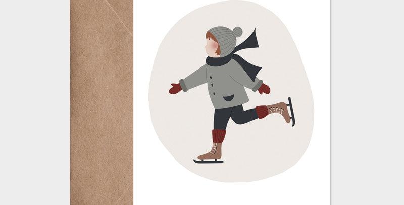 Carte postale - Postcard - Patiner sur la glace  / R