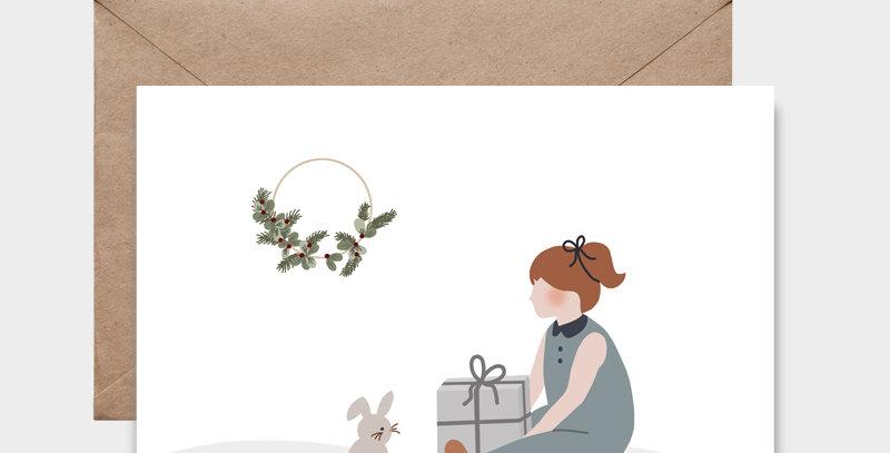 Carte postale - Post card - Le cadeau du lapin