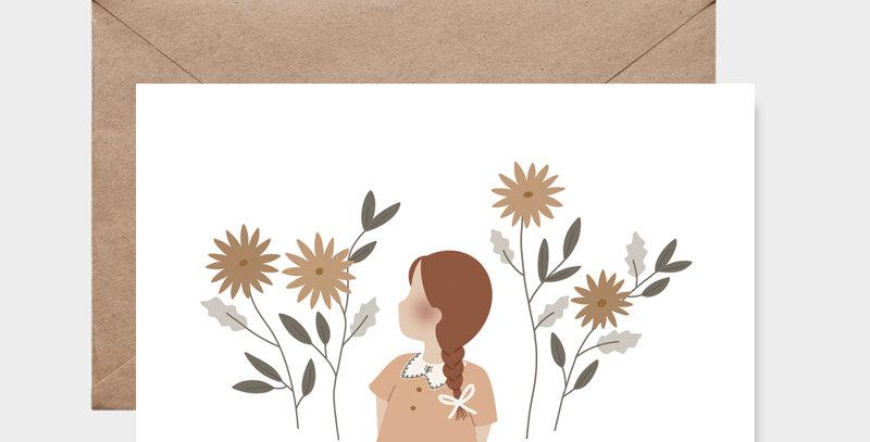 Carte postale - Postcard - Champs de fleurs / R
