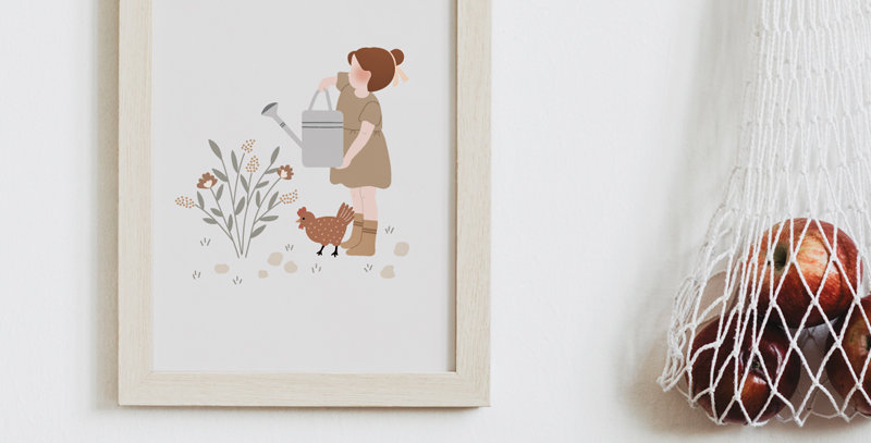 Affichette - Little Poster - Au jardin