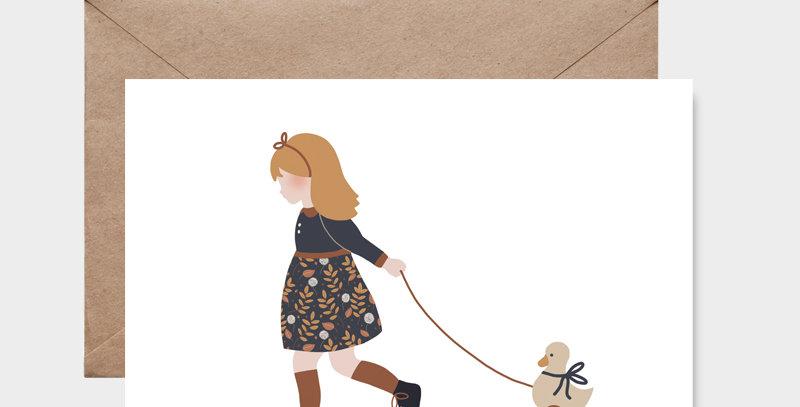 Carte postale - Post card - Mon joli petit canard