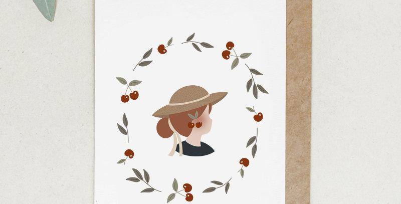 Carte postale - Post card - Madame Cerises