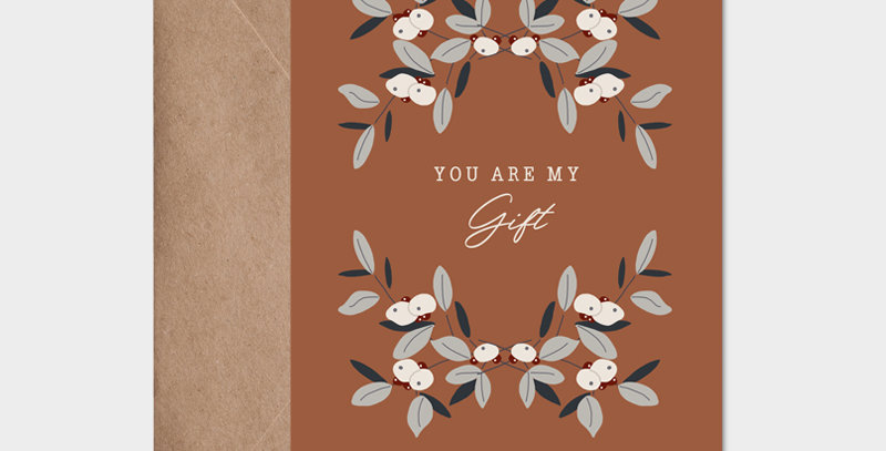 Carte postale - Postcard - You are my gift / R