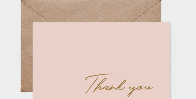 Carte postale - Postcard - Thank you so much  / R