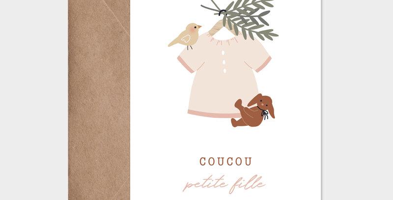 Carte postale - Post card - Blouse suspendue fille