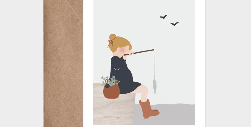 Carte postale - Postcard - Week-end pêche / R