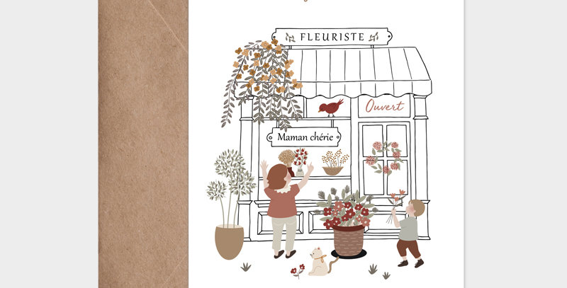 Carte postale - Postcard - Maman Fleuriste / R