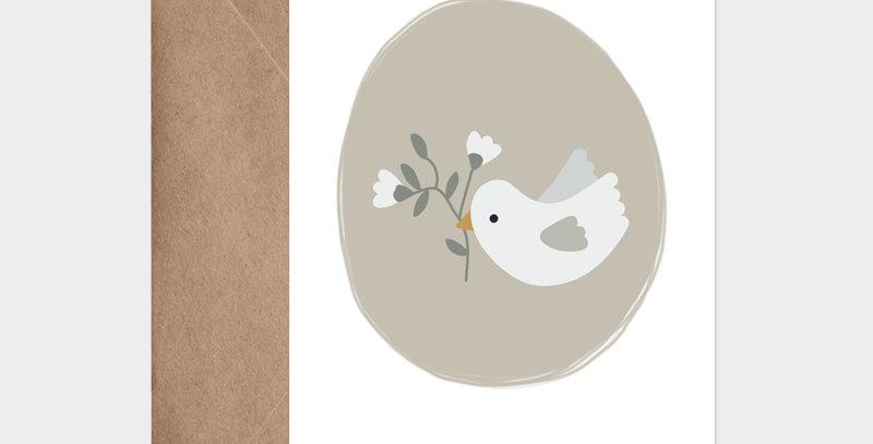 Carte postale - Postcard - Douce envolée bleu ciel / R