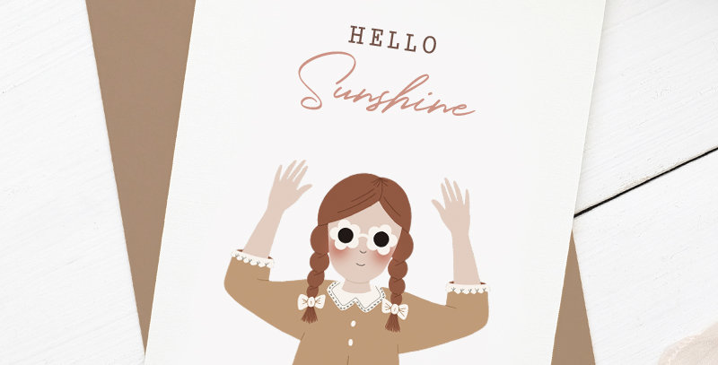 Carte postale - Post card - Hello Sunshine