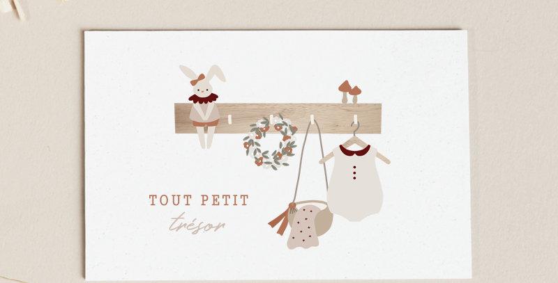 Carte postale - Post card - Tout petit trésor - Fille