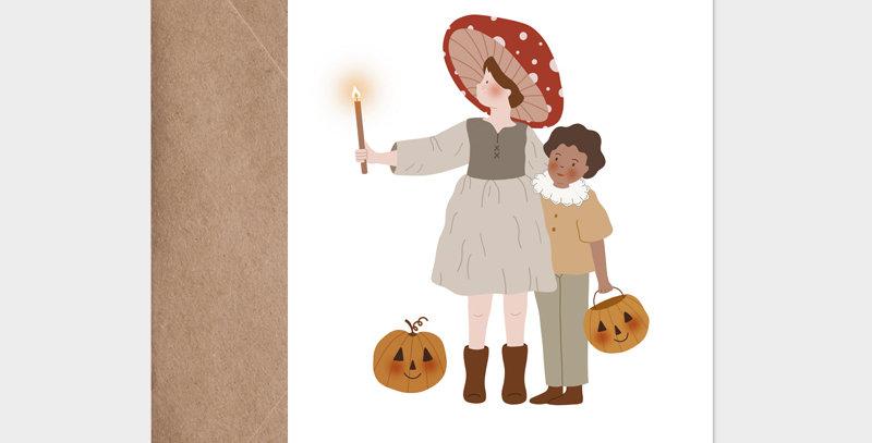 Carte postale - Post card - En avant Halloween