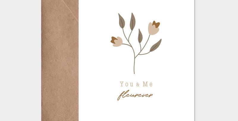Carte postale - Postcard - You and me Fleurever / R