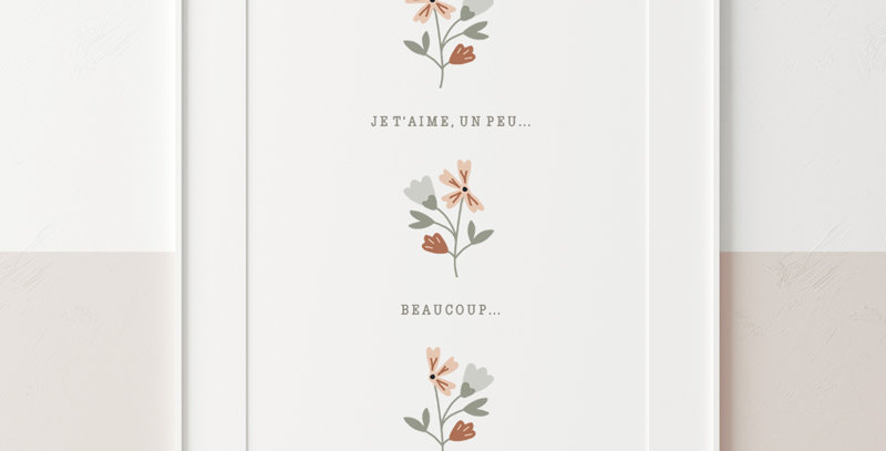 Affiche - Poster - Trio de fleurs