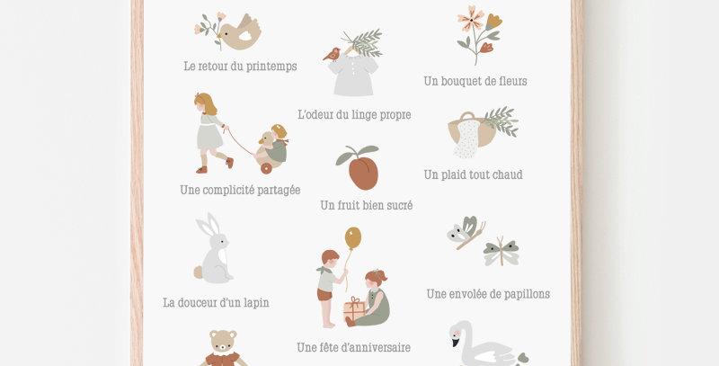 Affiche A3 - Poster A3 - Les petits bonheurs / R