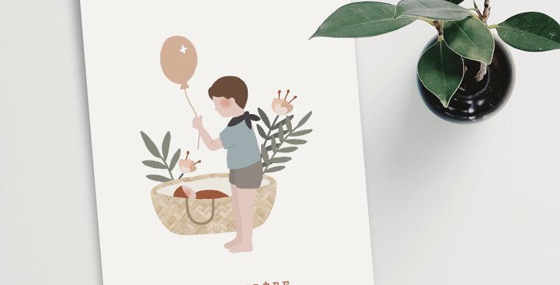 Carte postale - Post card - Grand frère