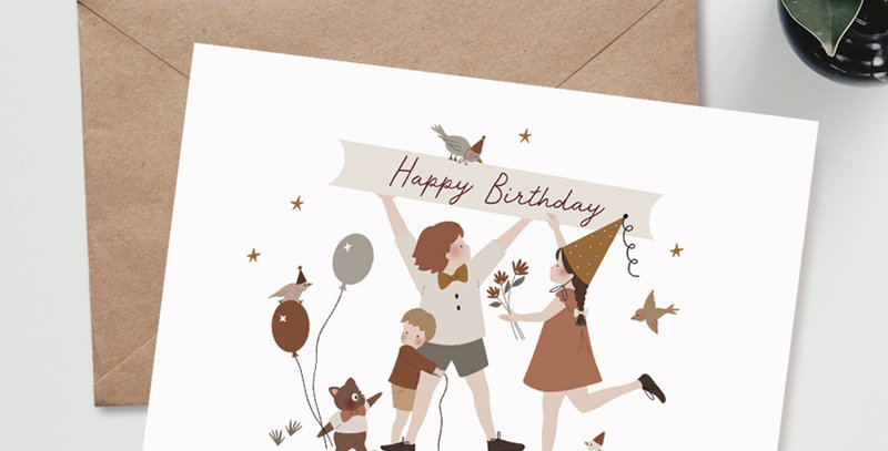 Carte postale - Post card - Happy birthday