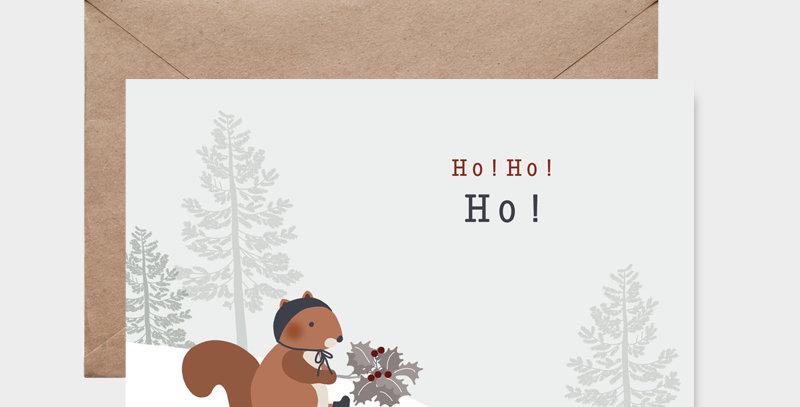 Carte postale - Post card - Ecureuil de Noël