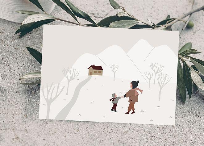 Visuel photo carte postale - Ensemble à