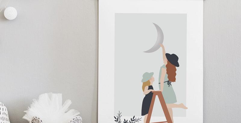 Affiche - Poster - L'Echelle de la lune