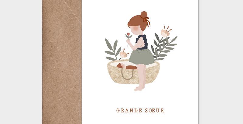 Carte postale - Postcard - Grande soeur / R
